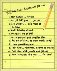 Resolutions for 2011